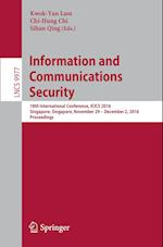 Information and Communications Security (Lecture Notes in Computer Science, nr. 9977)