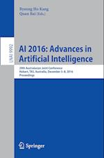 Ai 2016: Advances in Artificial Intelligence (Lecture Notes in Computer Science, nr. 9992)