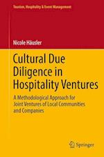 Cultural Due Diligence in Hospitality Ventures : A Methodological Approach for Joint Ventures of Local Communities and Companies