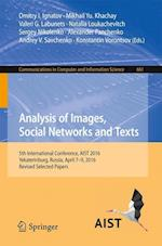 Analysis of Images, Social Networks and Texts : 5th International Conference, AIST 2016, Yekaterinburg, Russia, April 7-9, 2016, Revised Selected Pape