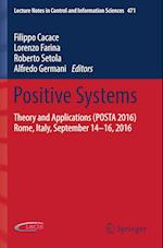 Positive Systems : Theory and Applications (POSTA 2016) Rome, Italy, September 14-16, 2016