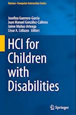 HCI for Children with Disabilities (Human-Computer Interaction Series)
