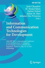 Information and Communication Technologies for Development : 14th IFIP WG 9.4 International Conference on Social Implications of Computers in Developi