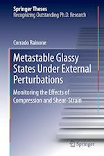 Metastable Glassy States Under External Perturbations : Monitoring the Effects of Compression and Shear-strain