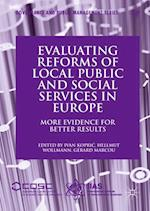 Evaluating Reforms of Local Public and Social Services in Europe (Governance and Public Management)