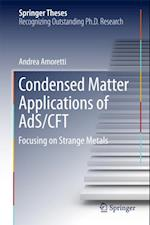 Condensed Matter Applications of AdS/CFT (Springer Theses)