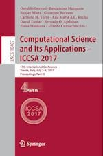 Computational Science and Its Applications - ICCSA 2017 : 17th International Conference, Trieste, Italy, July 3-6, 2017, Proceedings, Part IV
