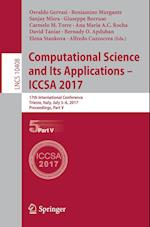 Computational Science and Its Applications - ICCSA 2017 : 17th International Conference, Trieste, Italy, July 3-6, 2017, Proceedings, Part V