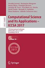 Computational Science and Its Applications - ICCSA 2017 : 17th International Conference, Trieste, Italy, July 3-6, 2017, Proceedings, Part VI