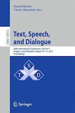Text, Speech, and Dialogue : 20th International Conference, TSD 2017, Prague, Czech Republic, August 27-31, 2017, Proceedings