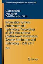 Information Systems Architecture and Technology: Proceedings of 38th International Conference on Information Systems Architecture and Technology - ISA