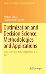 Optimization and Decision Science: Methodologies and Applications (Springer Proceedings in Mathematics & Statistics, nr. 217)