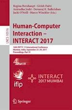 Human-Computer Interaction - INTERACT 2017 : 16th IFIP TC 13 International Conference, Mumbai, India, September 25-29, 2017, Proceedings, Part IV