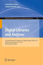 Digital Libraries and Archives (Communications in Computer and Information Science, nr. 733)