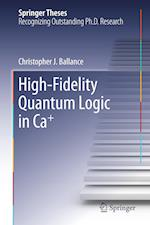 High-Fidelity Quantum Logic in Ca+
