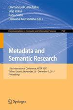 Metadata and Semantic Research : 11th International Conference, MTSR 2017, Tallinn, Estonia, November 28 - December 1, 2017, Proceedings