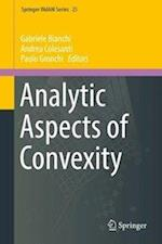 Analytic Aspects of Convexity (Springer Indam Series, nr. 25)