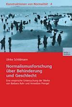 Normalismusforschung uber Behinderung und Geschlecht