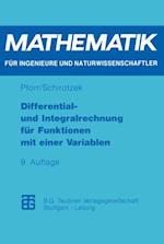 Differential- und Integralrechnung fur Funktionen mit einer Variablen af Winfried Schirotzek