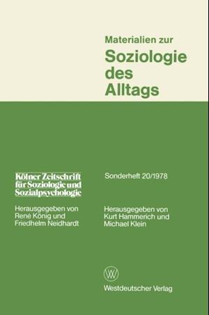 Materialien zur Soziologie des Alltags af Kurt Hammerich