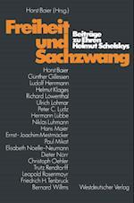 Freiheit und Sachzwang af Horst Baier, Helmut Schelsky