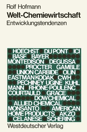 Welt-Chemiewirtschaft af Rolf Hofmann