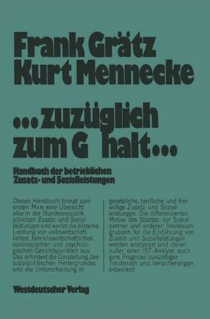 ...zuzuglich zum Gehalt... af Frank Gratz, Kurt Mennecke
