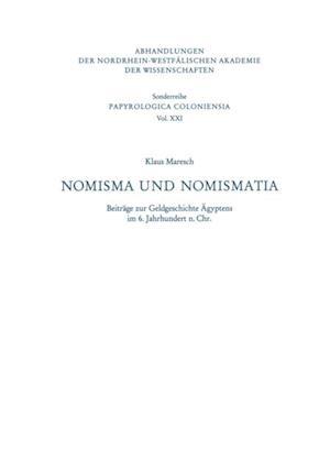 Nomisma und Nomismatia af Klaus Maresch