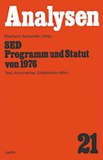SED - Programm und Statut von 1976