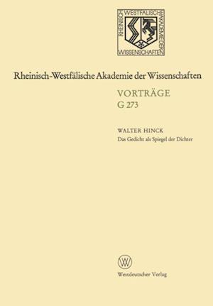 Das Gedicht als Spiegel der Dichter af Walter Hinck