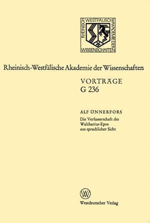 Die Verfasserschaft des Waltharius-Epos aus sprachlicher Sicht