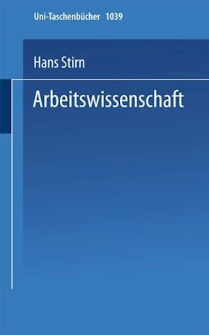 Arbeitswissenschaft af Hans Stirn