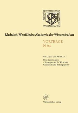 Natur-, Ingenieur- und Wirtschaftswissenschaften af Walter Eversheim