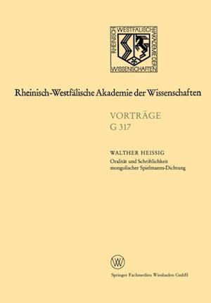 Oralitat und Schriftlichkeit mongolischer Spielmanns-Dichtung af Walther Heissig