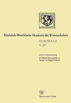 Preuische Kulturpolitik im Spiegel von Hegels Asthetik