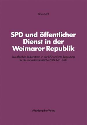 SPD und offentlicher Dienst in der Weimarer Republik