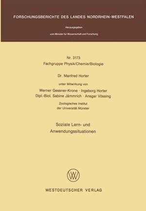 Soziale Lern- und Anwendungssituationen af Manfred Horter