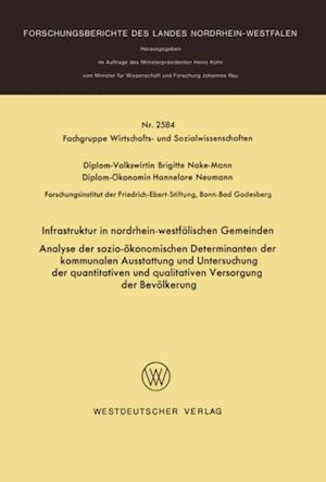 Infrastruktur in nordrhein-westfalischen Gemeinden af Brigitte Nake-Mann