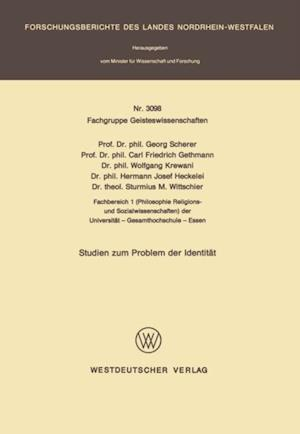 Studien zum Problem der Identitat af Georg Scherer