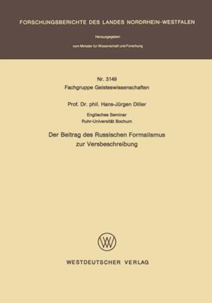 Der Beitrag des Russischen Formalismus zur Versbeschreibung af Hans-Jurgen Diller