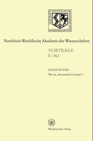 Was ist altrussische Literatur'? af Hans Rothe