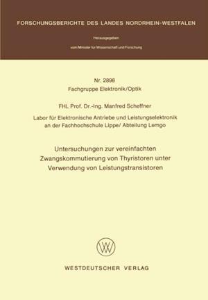 Untersuchungen zur vereinfachten Zwangskommutierung von Thyristoren unter Verwendung von Leistungstransistoren