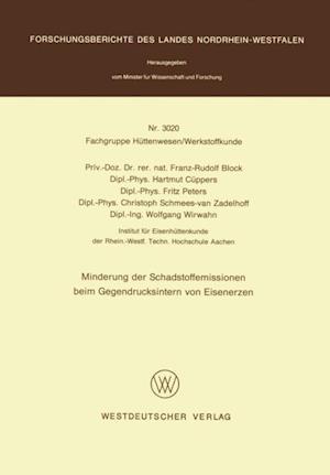 Minderung der Schadstoffemissionen beim Gegendrucksintern von Eisenerzen af Franz-Rudolf Block