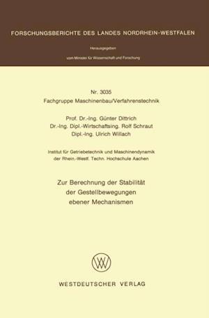 Zur Berechnung der Stabilitat der Gestellbewegungen ebener Mechanismen af Gunter Dittrich