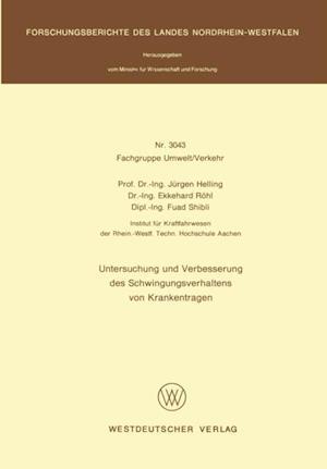 Untersuchung und Verbesserung des Schwingungsverhaltens von Krankentragen af Jurgen Helling