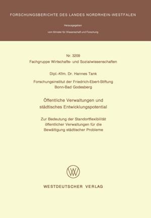 Offentliche Verwaltungen und stadtisches Entwicklungspotential af Hannes Tank