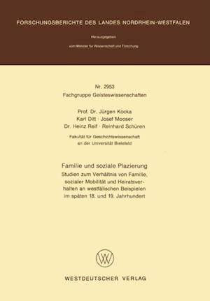 Familie und soziale Plazierung af Jurgen Kocka