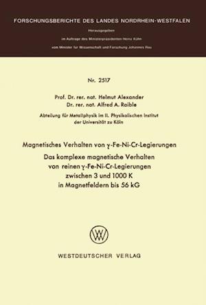 Magnetisches Verhalten von y-Fe-Ni-Cr-Legierungen af Helmut Alexander