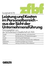 Leistung und Kosten im Personalbereich af Schmalenbach-Gesellschaft