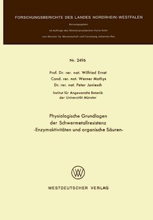 Physiologische Grundlagen der Schwermetallresistenz
